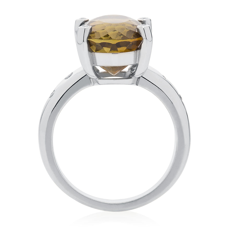 Tourmaline & Diamond Cocktail Ring - Joy Everley Fine Jewellers, London
