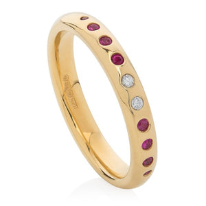Ruby and Diamond Band - Joy Everley Fine Jewellers, London