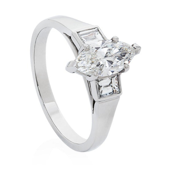 Marquise Engagement Ring - Joy Everley Fine Jewellers, London