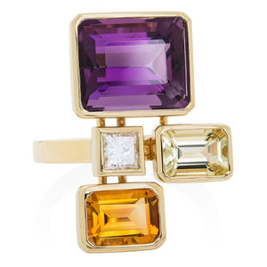 Rich Corners Cocktail Ring - Joy Everley Fine Jewellers, London
