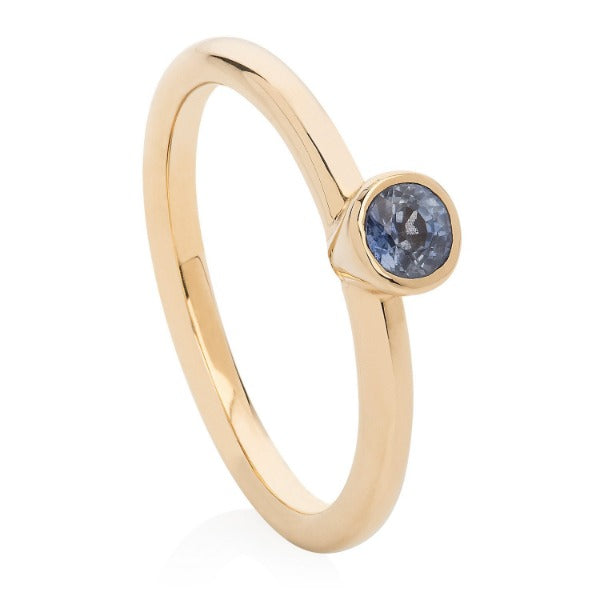 Pale Sapphire Gold Stacking Ring - Joy Everley Fine Jewellers, London