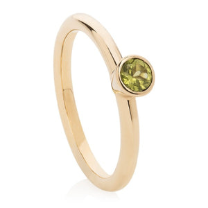 Peridot Gold Stacking Ring - Joy Everley Fine Jewellers, London