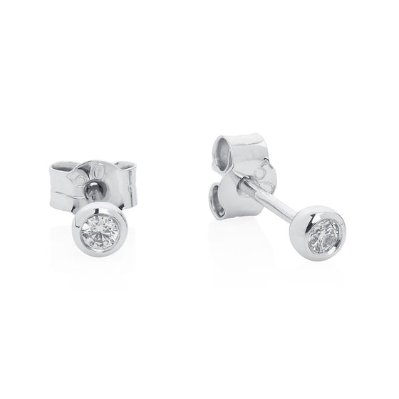 Classic diamond studs 9ct white gold