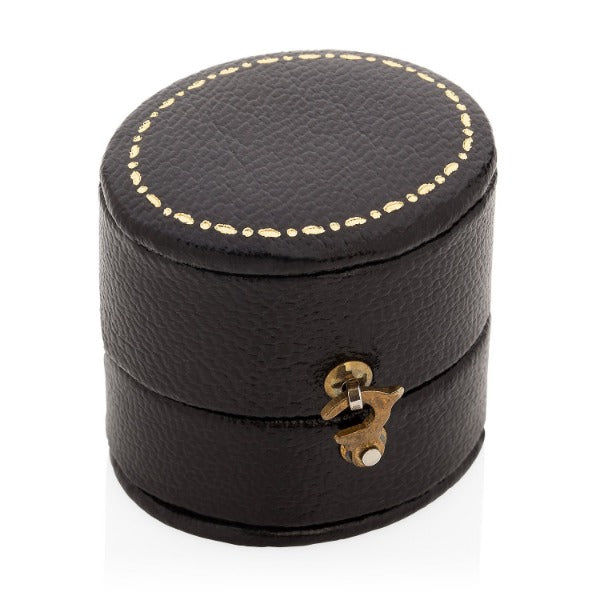 leather jewellery ring box