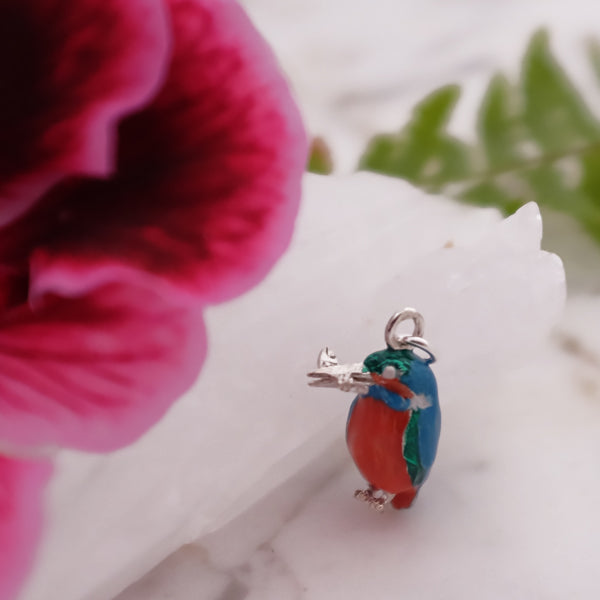 Silver Kingfisher Charm by Joy Everley