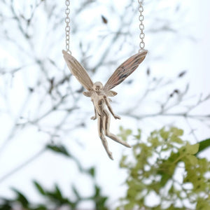 Silver fairy necklace - The Laughter Fairy