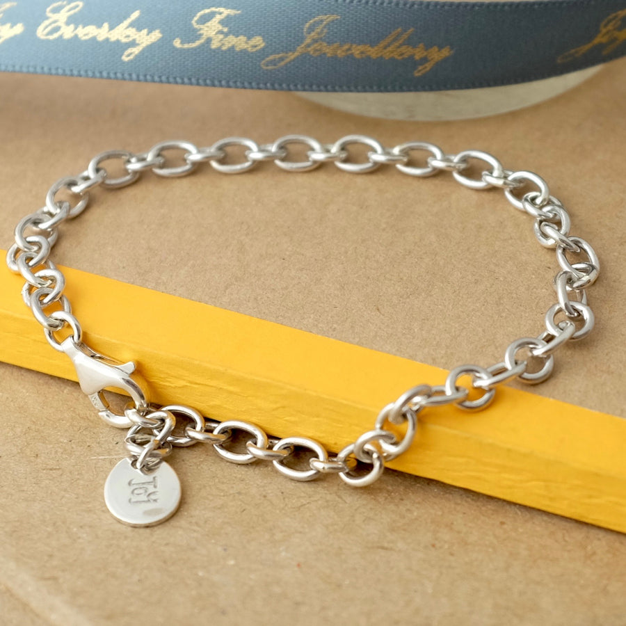 Silver Pebble Charm Bracelet by Joy Everley