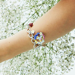 Love & Joy Silver Charm Bracelet by Joy Everley