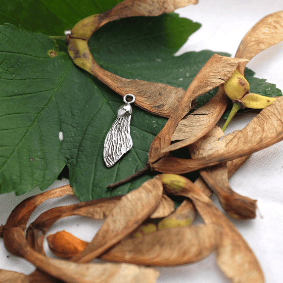 Sycamore Wing Charm - Joy Everley Fine Jewellers, London