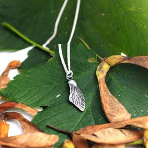 Silver Sycamore Wing Necklace - Joy Everley Fine Jewellers, London