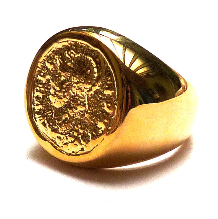 Vermeil Coin Ring - Joy Everley Fine Jewellers, London