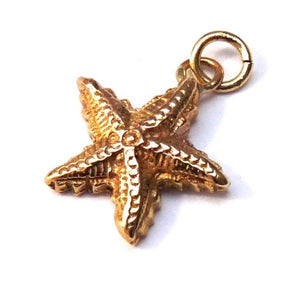 Gold Starfish Charm - Joy Everley Fine Jewellers, London