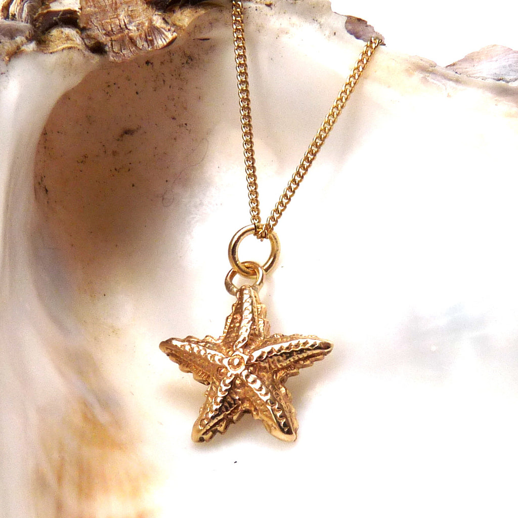 Gold Starfish Necklace - Joy Everley Fine Jewellers, London