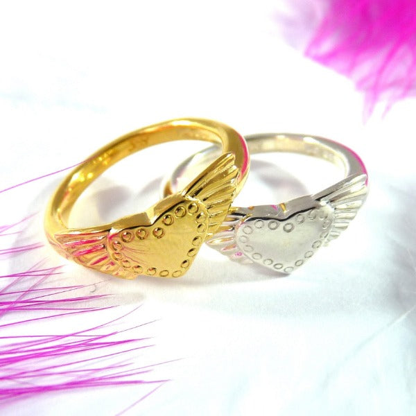 Winged Heart Ring