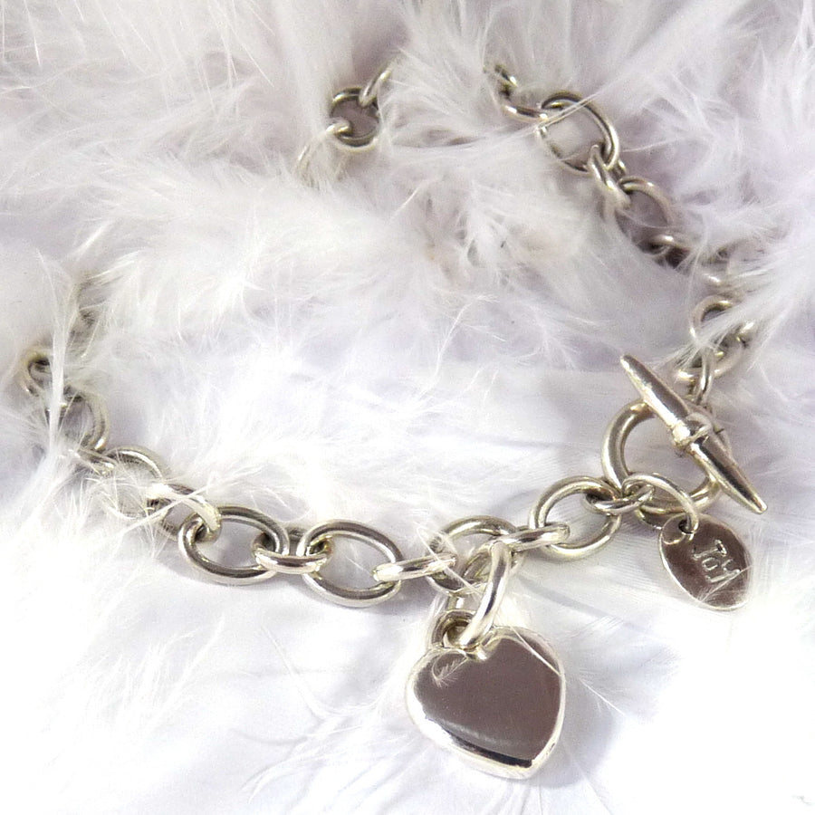Smooth Heart Bracelet - Joy Everley Fine Jewellers, London