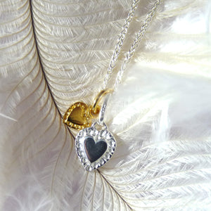 Two Tiny Hearts Necklace - Joy Everley Fine Jewellers, London