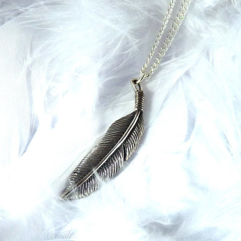 Silver Feather Necklace - Joy Everley Fine Jewellers, London