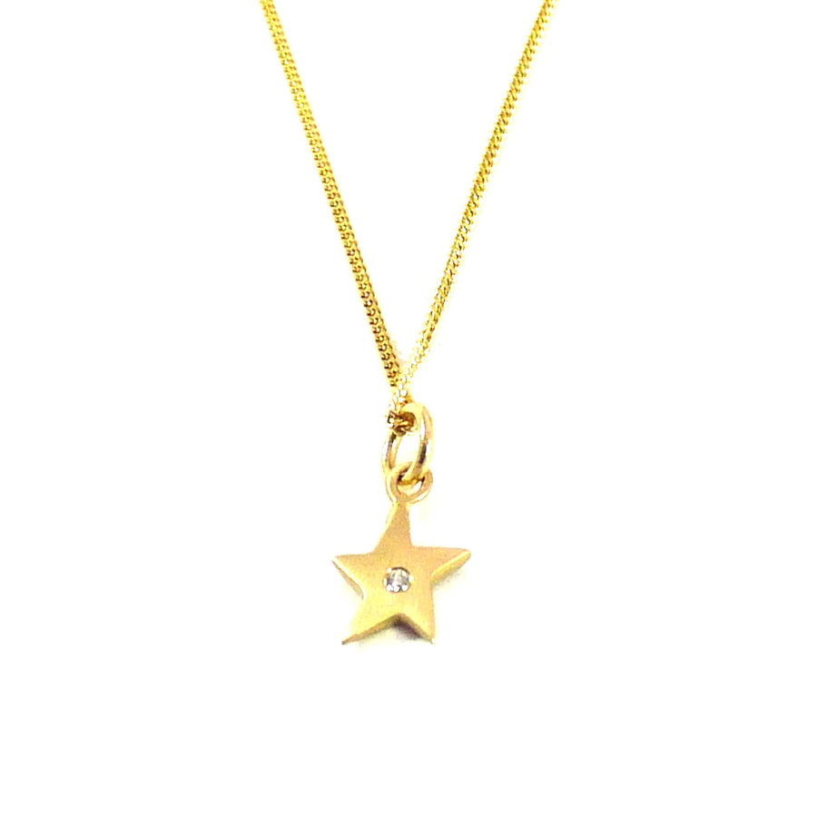 Gold Star & Diamond Necklace - Joy Everley Fine Jewellers, London