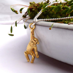 Vermeil Monkey Necklace - Joy Everley Fine Jewellers, London