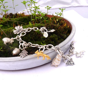 Into The Woods Charm Bracelet - Joy Everley Fine Jewellers, London