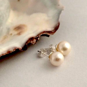 Extra Large Pearl Ear Studs by Joy Everley