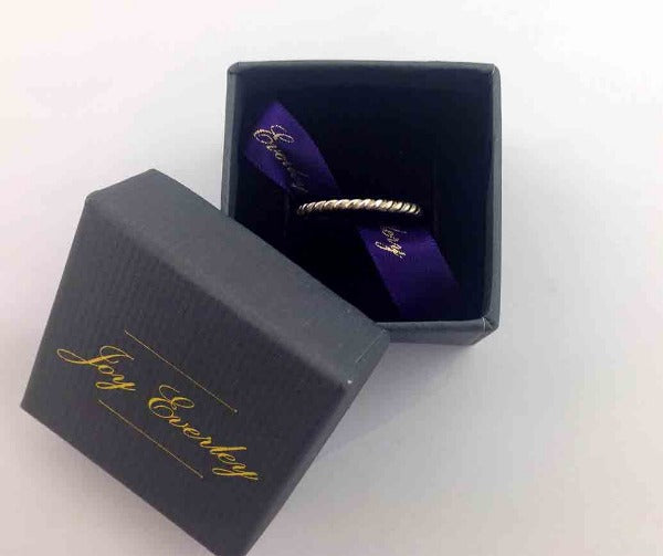 Fine Twist Silver Ring by Joy Everley
