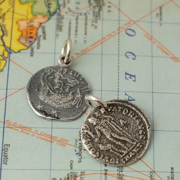 Ancient silver coins necklace by Joy Everley