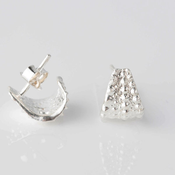 Silver Sea Urchin Earrings