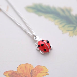Ladybird Necklace - Joy Everley Fine Jewellers, London