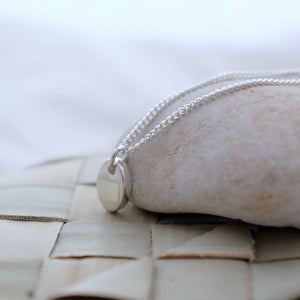 Tiny Silver Pebble Necklace - Joy Everley Fine Jewellers, London