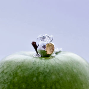 Golden Apple Charm - Joy Everley Fine Jewellers, London