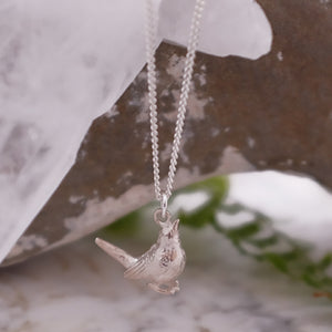 Silver Wren Necklace
