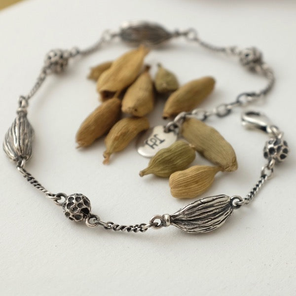 Cardamom and Peppercorn Chain Bracelet by Joy Everley