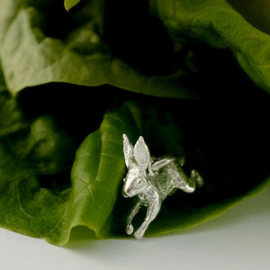 Leaping Hare Silver Necklace by Joy Everley