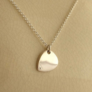 Solid Silver Plectrum Pendant by Joy Everley