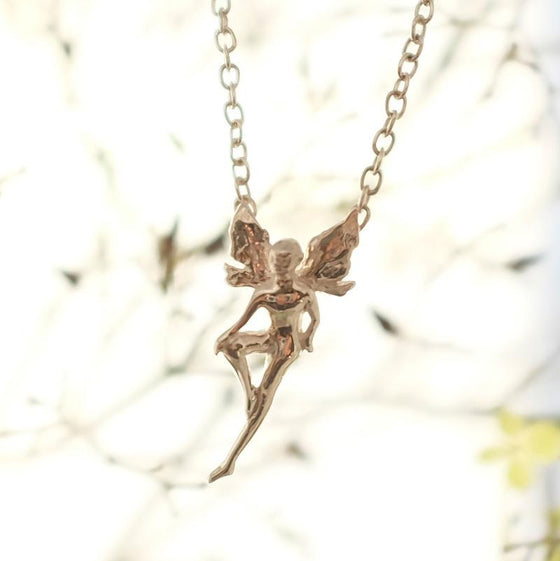 Small Silver Boy Fairy Necklace