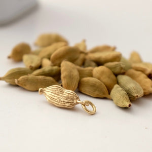 Solid Gold Cardamom Pod by Joy Everley