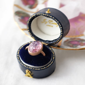Pink Spangled Tourmaline Gold Ring by Joy Everley