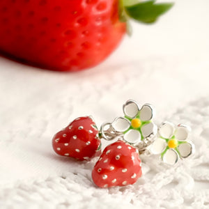 Strawberry Drop earrings by Joy Everley