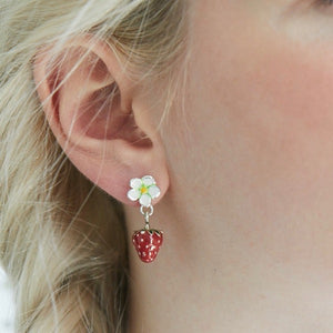 Strawberry Flower & Strawberry Earrings