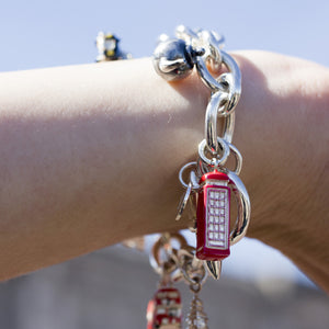 London Telephone Box Silver Charm by Joy Everley