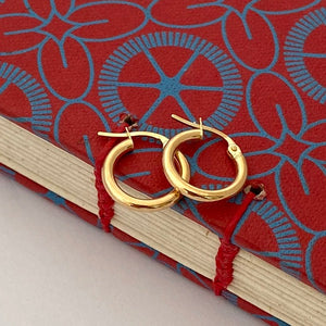 Joy Everley Tiny Yellow Gold or Silver Hoop Earrings