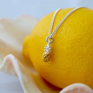 Silver and Vermeil Pineapple Charm by Joy Everley
