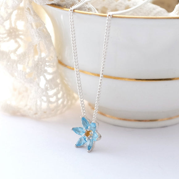Topaz Flower Necklace