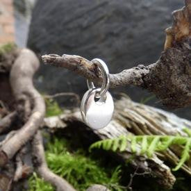 Tiny Smooth Pebble Charm