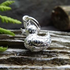 Medium Silver Duck Charm - Joy Everley Fine Jewellers, London