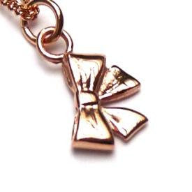 Rose Gold Bow Necklace - Joy Everley Fine Jewellers, London