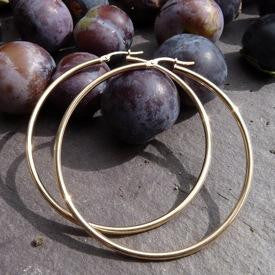 Large Gold Hoops - Joy Everley Fine Jewellers, London