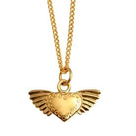 Vermeil Winged Heart Necklace - Joy Everley Fine Jewellers, London