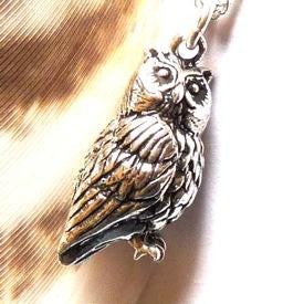 Silver Owl Charm - Joy Everley Fine Jewellers, London